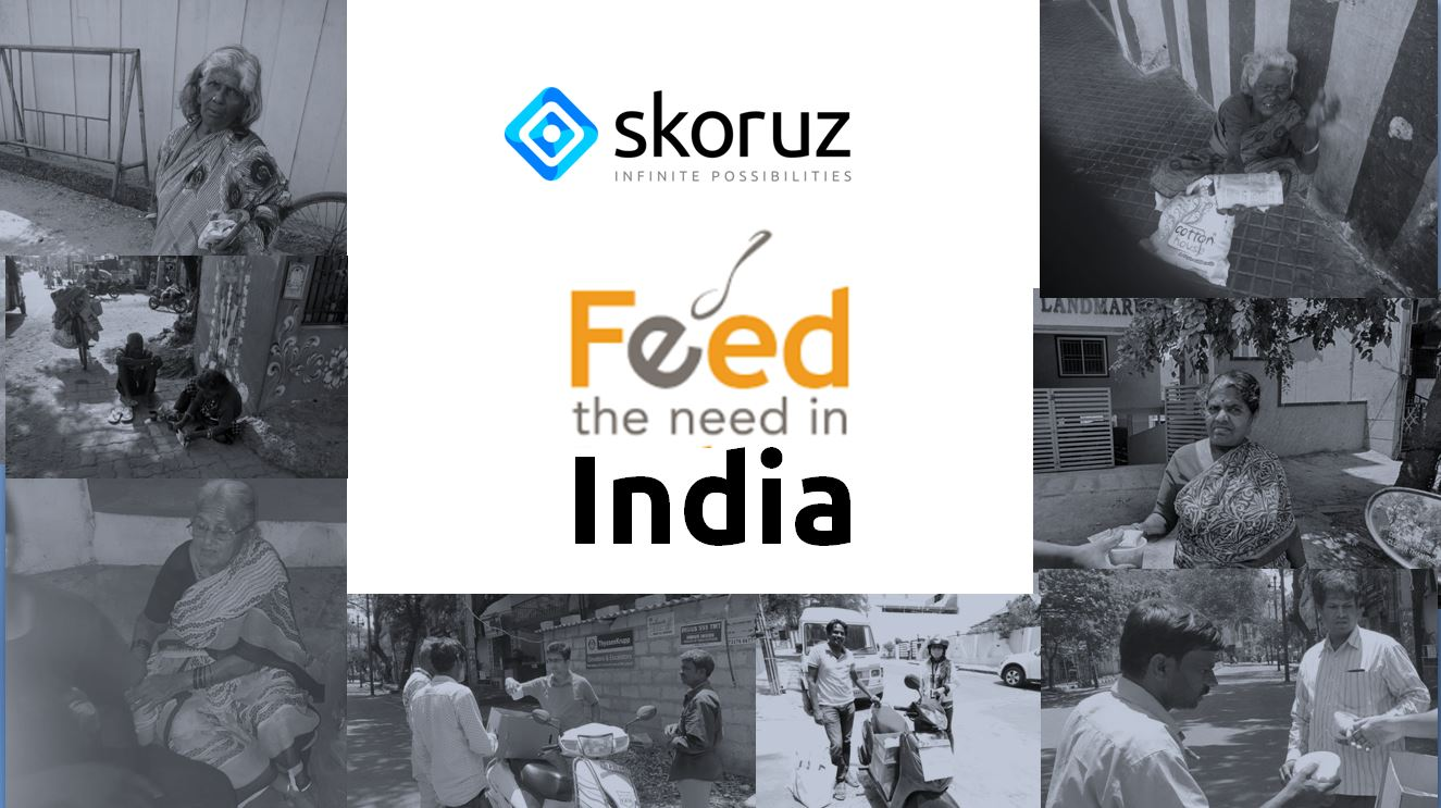 Skoruz Technologies' #FeedTheNeed initiative provides food and educates the people on the streets in India amidst the Covid-19 Lockdown